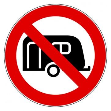 Verbotsschild Wohnwagen verboten