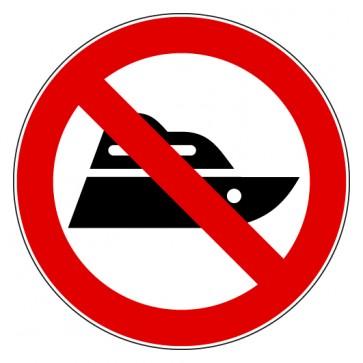 Verbotsschild Boot fahren verboten