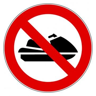 Aufkleber Verbotszeichen Jet Ski fahren verboten