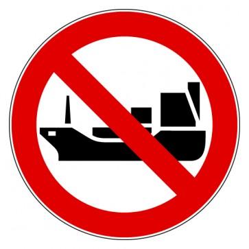 Aufkleber Verbotszeichen Für Schiffe fahren verboten