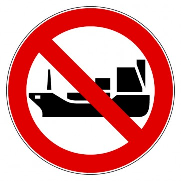 Verbotsschild Für Schiffe fahren verboten