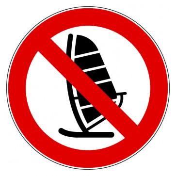 Aufkleber Verbotszeichen Wind Surfen verboten