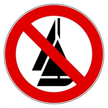 Aufkleber Verbotszeichen Segeln verboten