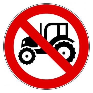Verbotsschild Traktor verboten