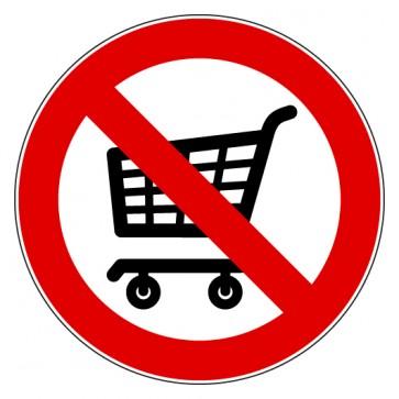 Aufkleber Verbotszeichen Einkaufswagen abstellen verboten