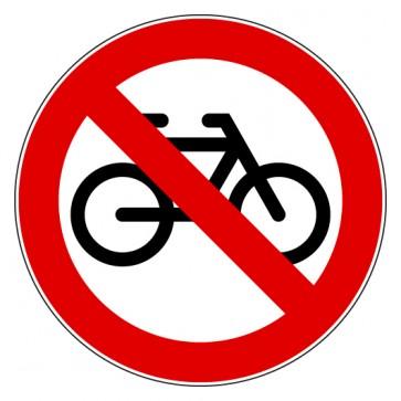 Aufkleber Verbotszeichen Fahrräder verboten