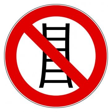 Verbotsschild Benutzung der Treppe verboten