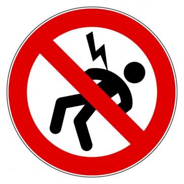 Aufkleber Verbotszeichen Gefahr durch elektrischen Strom