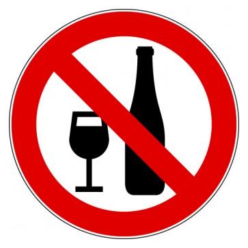 Verbotsschild Alkoholische Getränke verboten