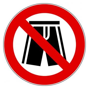 Verbotsschild Badehose Shorts verboten