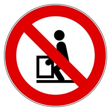 Verbotsschild Heben verboten
