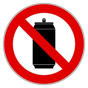 Aufkleber Verbotszeichen Dosen verboten