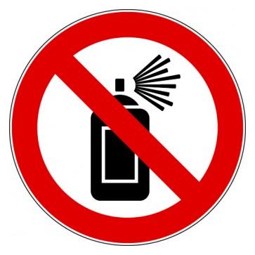 Verbotsschild Sprühdosen verboten