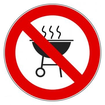 Aufkleber Verbotszeichen Grillen verboten