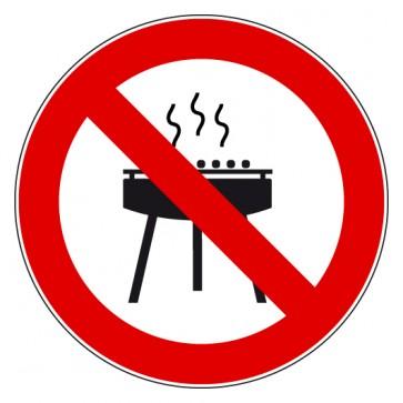Aufkleber Verbotszeichen Grillen verboten / Grillverbot