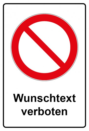 Kombi Aufkleber Allgemeines Verbotszeichen