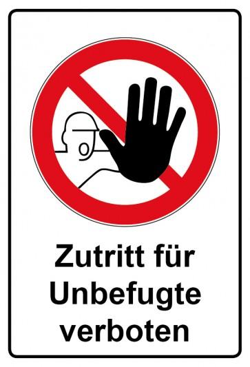 Kombi Aufkleber Zutritt für Unbefugte verboten