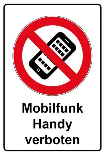 Kombi Aufkleber Mobilfunk Handy verboten