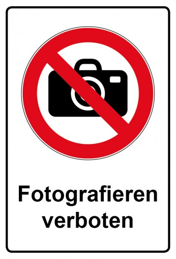 Kombi Aufkleber Fotografieren verboten