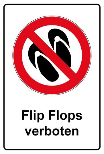 Kombi Aufkleber Flip Flops verboten