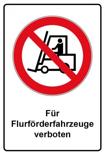 Kombi Aufkleber Für Flurförderfahrzeuge verboten