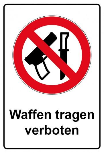 Kombi Aufkleber Waffen tragen verboten