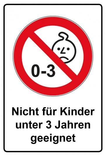 Kombi Aufkleber Nicht für Kinder unter 3 Jahren geeignet