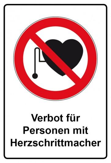 Kombi Aufkleber Verbot für Personen mit Herzschrittmacher