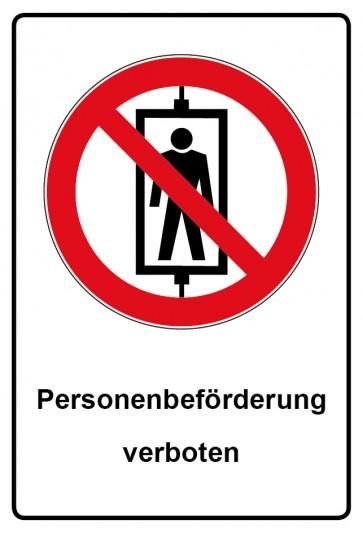Kombi Aufkleber Personenbeförderung verboten