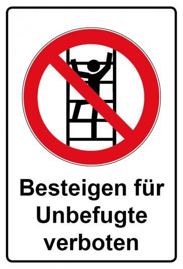 Kombi Aufkleber Besteigen für Unbefugte verboten