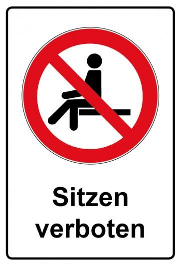 Kombi Aufkleber Sitzen verboten