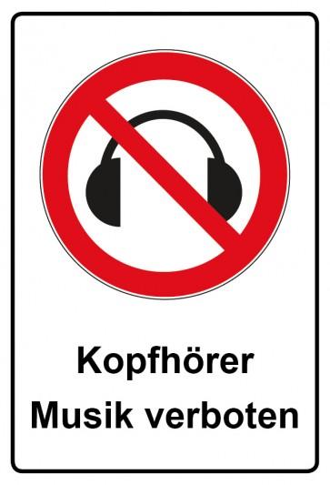 Kombi Aufkleber Kopfhörer Musik verboten