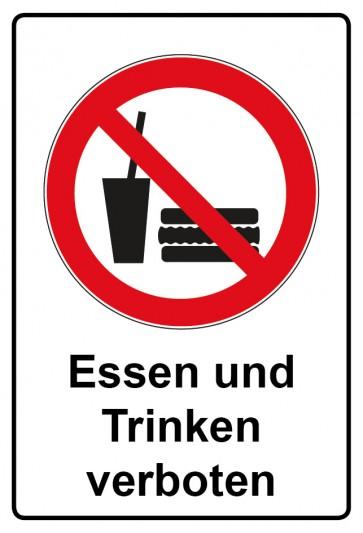 Kombi Aufkleber Essen und Trinken verboten