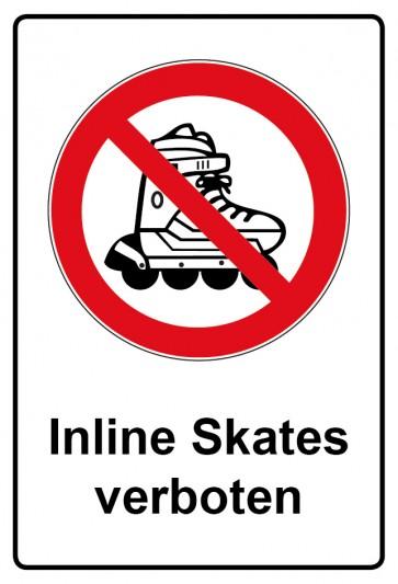 Kombi Aufkleber Inline Skates verboten