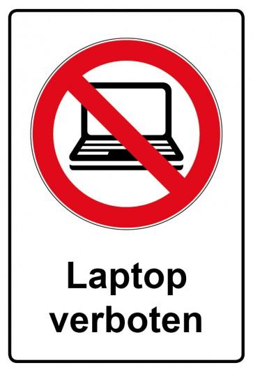 Kombi Aufkleber Laptop verboten