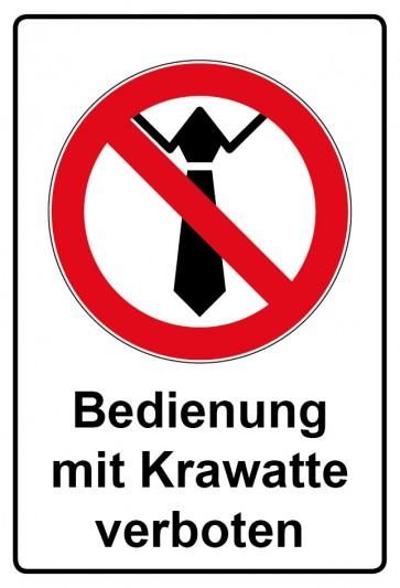 Kombi Aufkleber Bedienung mit Krawatte verboten