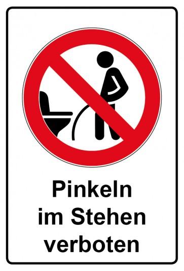Kombi Aufkleber Pinkeln im Stehen verboten