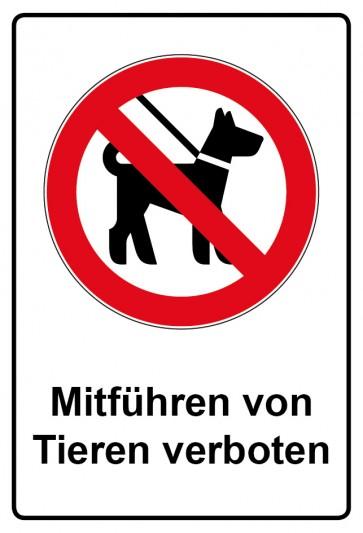 Kombi Aufkleber Mitführen von Tieren verboten
