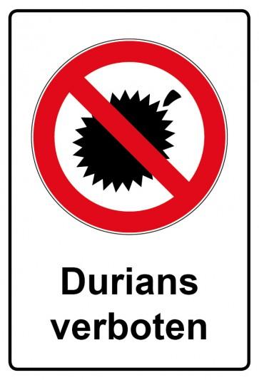 Kombi Aufkleber Durians verboten