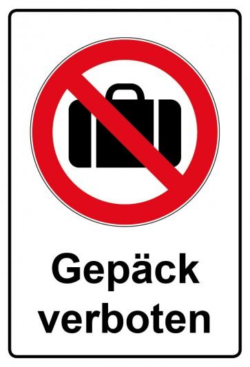 Kombi Aufkleber Gepäck verboten