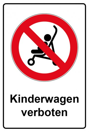 Kombi Aufkleber Kinderwagen verboten