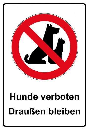 Kombi Aufkleber Hunde verboten Draußen bleiben