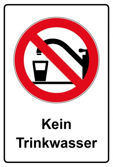 Kombi Aufkleber Kein Trinkwasser