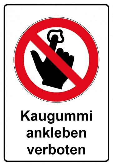 Kombi Aufkleber Kaugummi ankleben verboten