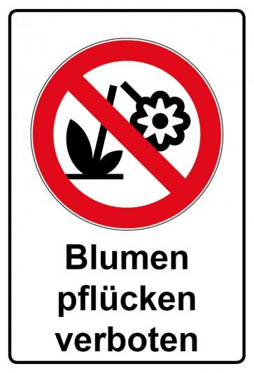 Kombi Aufkleber Blumen pflücken verboten