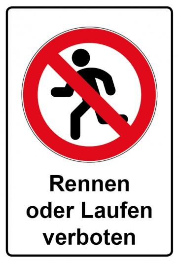 Kombi Aufkleber Rennen Laufen verboten