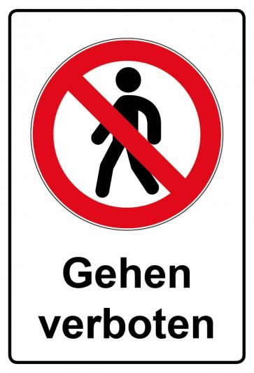 Kombi Aufkleber Gehen verboten