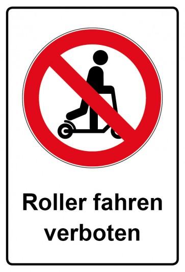 Kombi Aufkleber Roller fahren verboten
