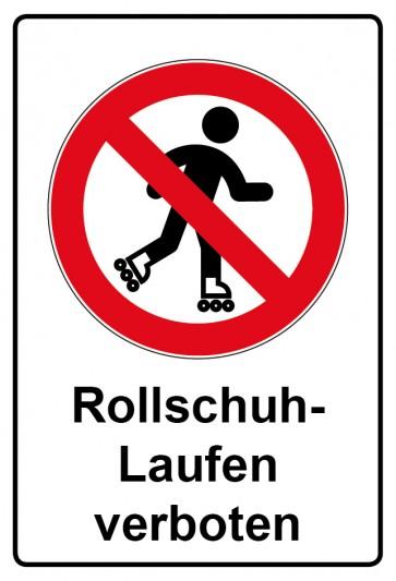 Kombi Aufkleber Rollschuh laufen verboten