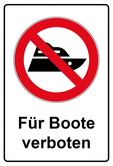 Kombi Aufkleber Boot fahren verboten